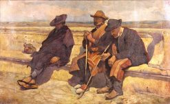 Three Seated Figures | Edwin Lord Weeks | Oil Painting