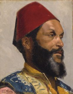 Portrait of a Turkish Man | Edwin Lord Weeks | Oil Painting