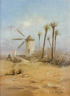 Windmill and Palm Trees | Edwin Lord Weeks | Oil Painting