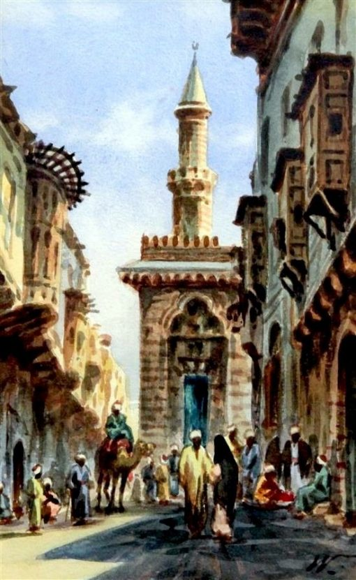 Cairo Street Scene | Edwin Lord Weeks | Oil Painting