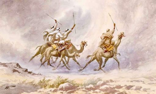 A Camel Charge | Edwin Lord Weeks | Oil Painting