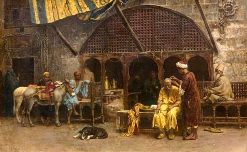 A Close Shave | Edwin Lord Weeks | Oil Painting