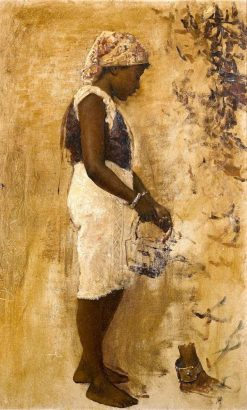 A Moorish Girl in Yellow | Edwin Lord Weeks | Oil Painting