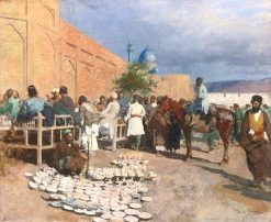 Persian Café - The Pottery Seller | Edwin Lord Weeks | Oil Painting