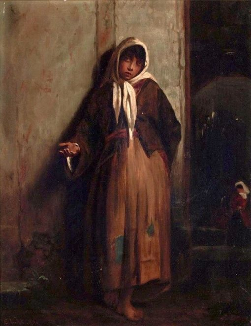 Beggar Woman | Edwin Lord Weeks | Oil Painting