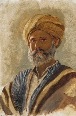 Portrait of a Turbaned Man | Edwin Lord Weeks | Oil Painting