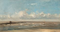 Marine Scene with Breakwater   Louis Artan   Oil Painting