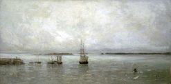 Souvenir of Guernsey   Louis Artan   Oil Painting
