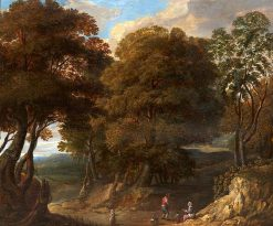 Figures in a Wooded Landscape | Jacques d'Arthois | Oil Painting