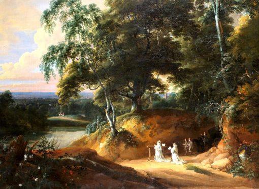 An Extensive Landscape with Monks at Prayer | Jacques d'Arthois | Oil Painting