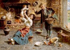 A Treat for Grandson | Eugenio Zampighi | Oil Painting
