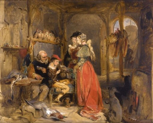 A Visit to the Falconer's | Sir Edwin Landseer | Oil Painting