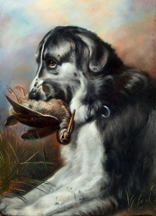 Hound with Hunted Bird | Sir Edwin Landseer | Oil Painting