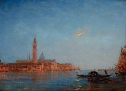 Venice in Moonlight | Felix-Francois-Georges-Philbert Ziem | Oil Painting