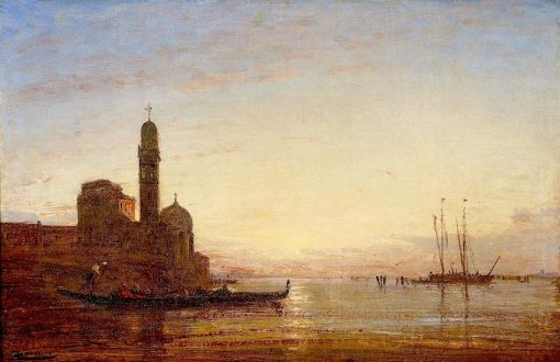 Cemetery of San Michele Island | Felix-Francois-Georges-Philbert Ziem | Oil Painting