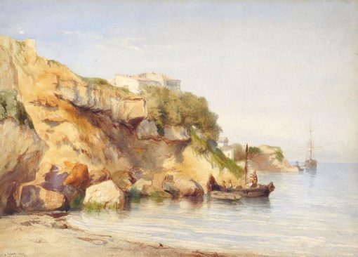 Rocks by the Sea | Felix-Francois-Georges-Philbert Ziem | Oil Painting