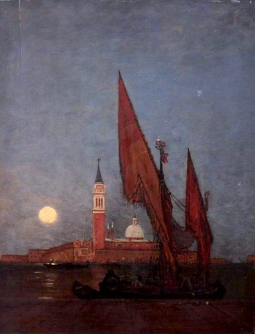 Venice at Night | Felix-Francois-Georges-Philbert Ziem | Oil Painting