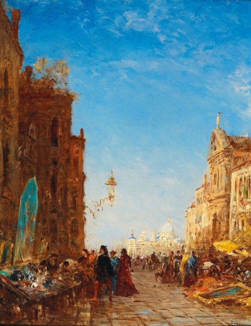 The Antique Market in Venice | Felix-Francois-Georges-Philbert Ziem | Oil Painting