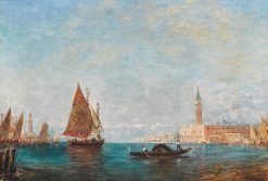 A View of Venice with St. Mark's beyond | Felix-Francois-Georges-Philbert Ziem | Oil Painting