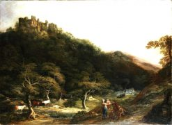 A View of Berry Pomeroy Castle | William Ashford | Oil Painting