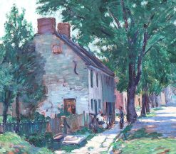 Village Street Scene | Clifford Warren Ashley | Oil Painting