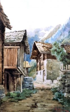 Huts in the Mountains | Federico Ashton | Oil Painting