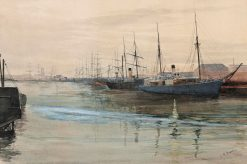 Shipping on the Yarra - Early Morning | Julian Rossi Ashton | Oil Painting