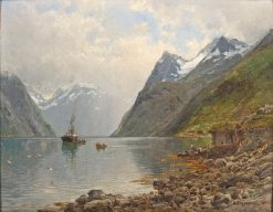 Norwegian Fjord Landscape | Anders Monsen Askevold | Oil Painting