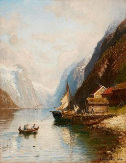 Crossing the Fjord | Anders Monsen Askevold | Oil Painting