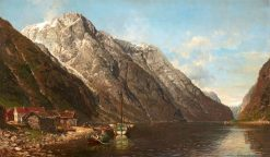 Panoramic Fjord Landscape | Anders Monsen Askevold | Oil Painting