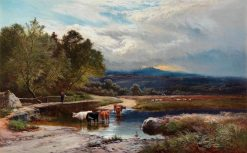 Crossing the Ford | Sidney Richard Percy | Oil Painting