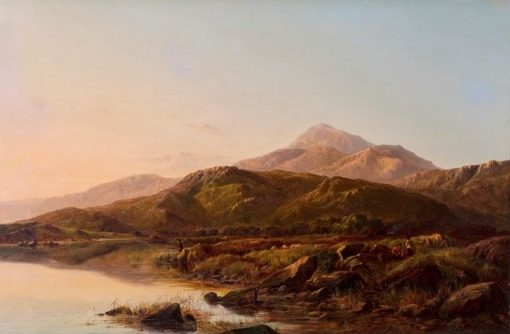 A Mountain Lake in Evening Light | Sidney Richard Percy | Oil Painting