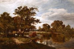 On the river Mole | Sidney Richard Percy | Oil Painting