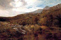 A Welsh Valley | Sidney Richard Percy | Oil Painting