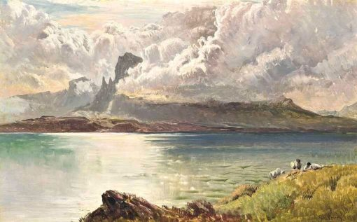 Clouds breaking over the Isle of Skye | Sidney Richard Percy | Oil Painting