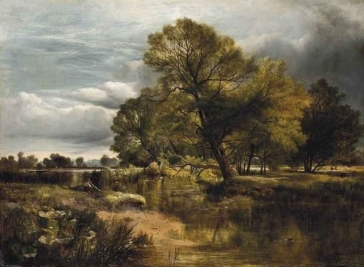 A Peaceful Day on the Riverbank | Sidney Richard Percy | Oil Painting