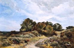 The Path across the Common | Sidney Richard Percy | Oil Painting