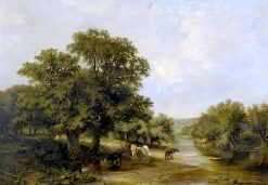 River Landscape | Sidney Richard Percy | Oil Painting