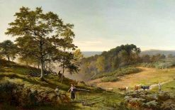 The Bonnie Moor with Bracken Clad | Sidney Richard Percy | Oil Painting