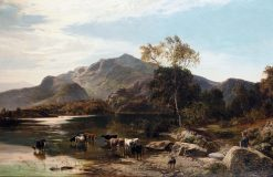 Cattle Watering | Sidney Richard Percy | Oil Painting