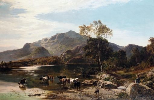 Cattle Watering   Sidney Richard Percy   Oil Painting