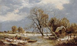 Winter on the Stour | Sidney Richard Percy | Oil Painting