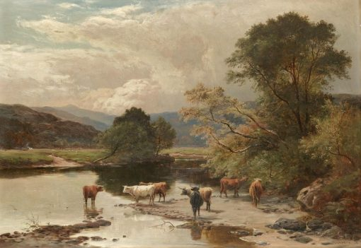 Cattle at a Ford on the East Lyn