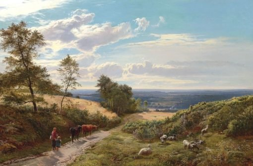 Cattle in the Vale | Sidney Richard Percy | Oil Painting