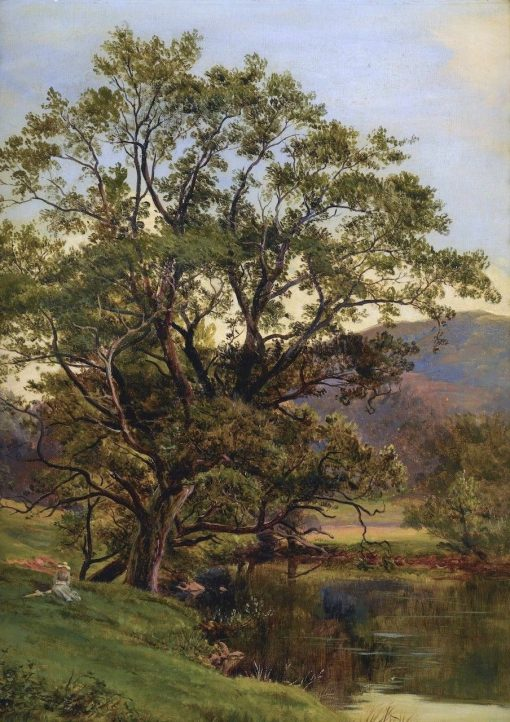 A Quiet Moment by a Pond | Sidney Richard Percy | Oil Painting