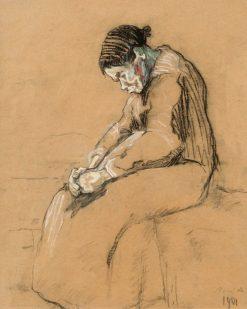 Old Woman | Rene Auberjonois | Oil Painting