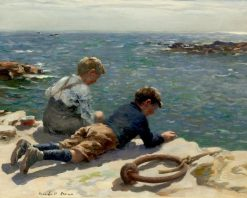 The Fishers | William Marshall Brown | Oil Painting