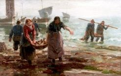 Unloading the Catch | William Marshall Brown | Oil Painting