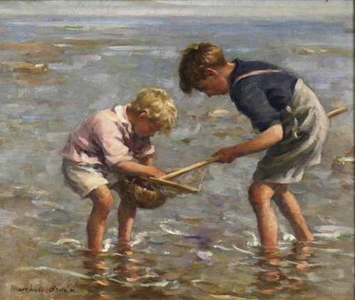 The Young Shrimpers | William Marshall Brown | Oil Painting