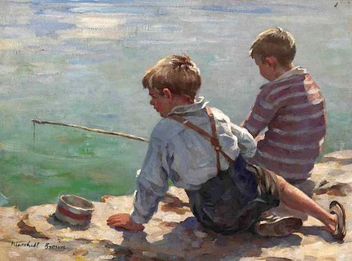 Fishing   William Marshall Brown   Oil Painting